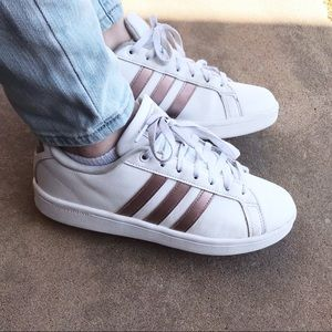 Rose gold stripes adidas shoes